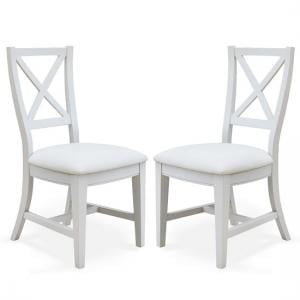 Krista Fabric Dining Chair In Grey Linen In A Pair