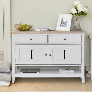 Krista Wooden Small Sideboard Or Console Table In Grey