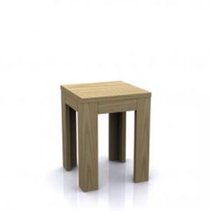 Los Angeles End Side Table In Natural Oak