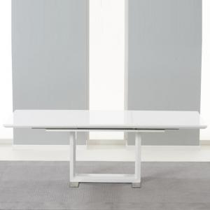 Lancaster Extendable Dining Table In White High Gloss