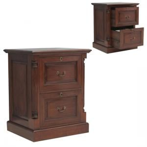 Belarus Filing Cabinet In Mahogany With 2 Drawers