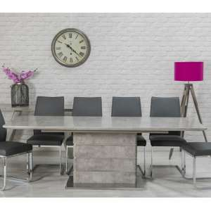 Lauram Extendable Dining Table Rectangular In Concrete Effect