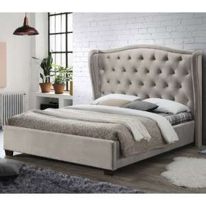 Lauren Fabric King Size Bed In Champagne