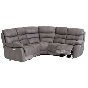 Layla Fabric Upholstered Corner Group Sofa Set In Grey