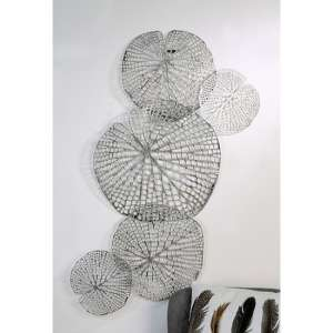 Leaf Metal Wall Art In Silver