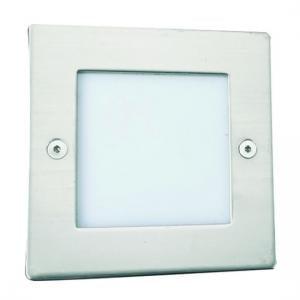 LED Wall Light Square In Opal White With Translucent Diffuser