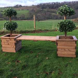 Leety 2 Square Planter Bench