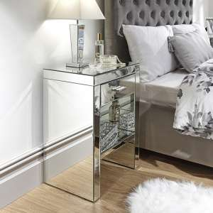 Lepus Bedside Cabinet In Clear With 1 Drawer