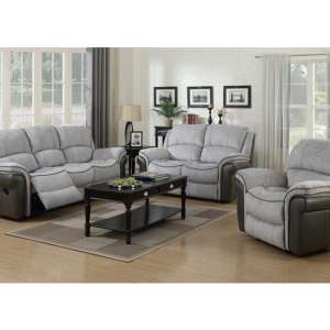 Lerna Fusion 3 Seater Sofa And 2 Armchairs Suite In Grey