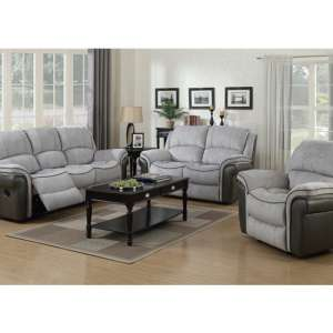 Lerna Fusion 3 Seater Sofa And 2 Seater Sofa Suite In Grey