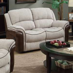 Lerna Fusion Fabric 2 Seater Sofa In Mink