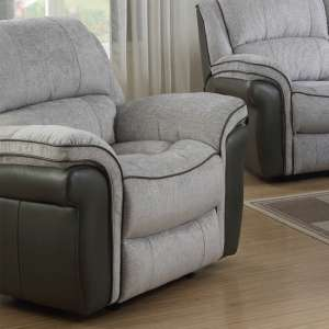 Lerna Fusion Lounge Chaise Armchair In Grey