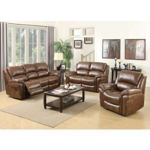 Lerna Leather 3 Seater Sofa And 2 Seater Sofa Suite In Tan