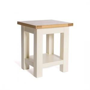 Lexington Wooden End Table In Ivory With Undershelf
