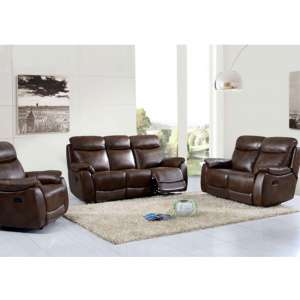 Leyton 3 Seater Sofa And 2 Armchairs Suite In Tan