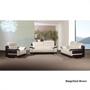 Liam Sofa Suite With Coffee Table In Grey Black Faux Leather_4