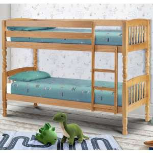 Lincoln Solid Pine Wide Bunk Bed In Antique Low Sheen