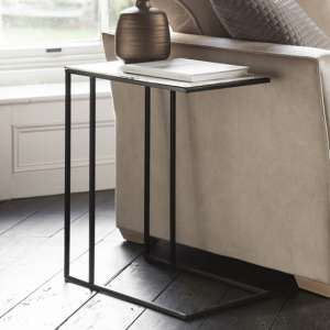 Linton Supper Side Table In Copper Finish Top