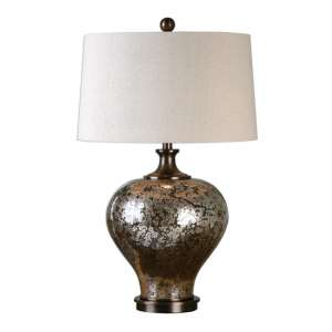 Liro Table Lamp In Mottled Dark Bronze
