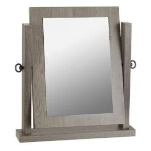Lisbon Dressing Table Mirror In Black Wood Grain Frame