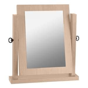 Lisbon Dressing Table Mirror In Light Oak Effect Veneer Frame