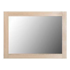 Lisbon Wall Bedroom Mirror In Light Oak Effect Veneer Frame