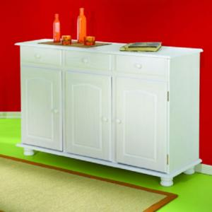 Livio 3 Door White Pine Sideboard