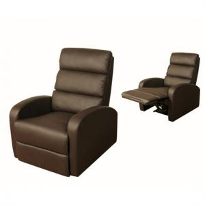 Livonia Reclining Chair in Brown Faux Leather