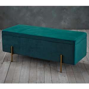 Lola Storage Ottoman In Teal