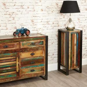 London Urban Chic Wooden Plant Stand Or Lamp Table_5