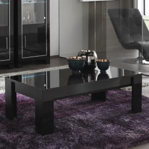 Lorenz Coffee Table Rectangular In Black High Gloss