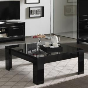 Lorenz Coffee Table Square In Black High Gloss