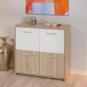 Loreto Four Door Sideboard In Oak And White