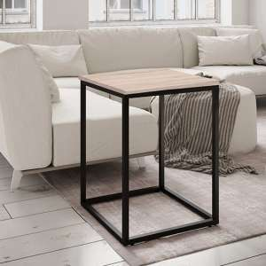Louis Wooden Side Table In Ashwood Paper Veneer