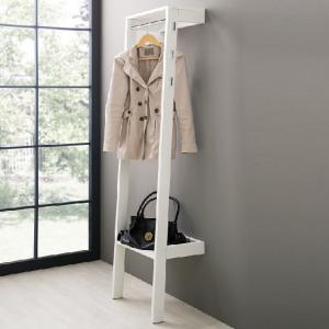 Louis Wall Mounted Coat Stand In White With 6 Hooks