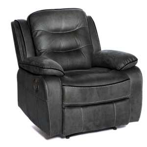 Lovell Fabric Recliner Armchair In Slate