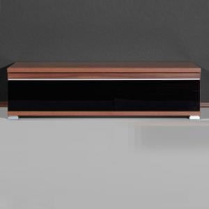 Energy Freestyle Plasma TV Stand In Walnut With Gloss Black