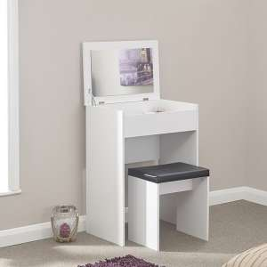 Luana Wooden Dressing Table Set In White