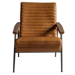 Lucera Leather Armchair In Brown