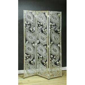 Silver Paisley Metal Novelty Room Divider For The Home