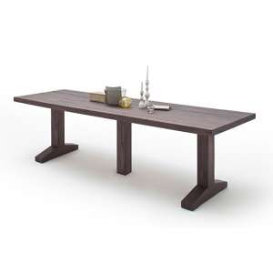 Lunch Extra Large Wooden Dining Table In Weathered Oak