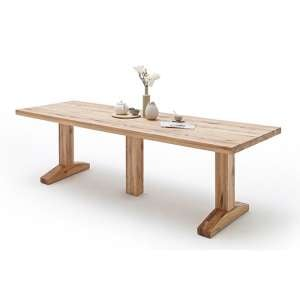 Lunch Large Wooden Dining Table In Wild Oak