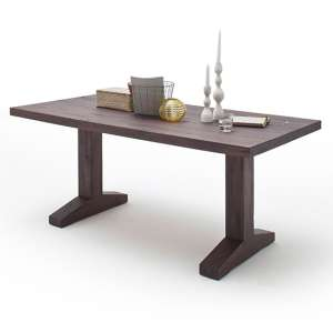 Lunch Medium Wooden Dining Table In Weathered Oak