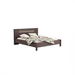 Luxor Wooden King Size Bed In Vulcano Oak And Basalt