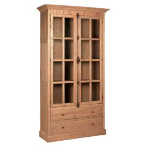 Lyox Wodoen 2 Doors 2 Drawers Display Cabinet In Natural