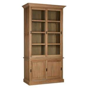 Lyox Wodoen 4 Doors Display Cabinet In Oak