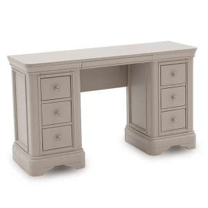 Mabel Wooden Dressing Table In Taupe