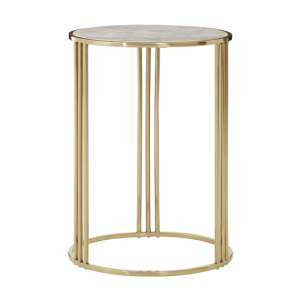 Gudja Round Side Table In Gold