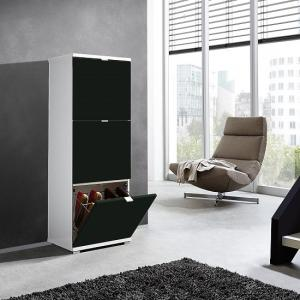 Madison Medium Shoe Storage Cabinet With Matt Black Fronts