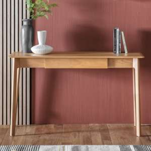 Madrid Wooden 1 Drawer Laptop Desk In Oak